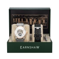 Set Montre Automatique DOWNING EARNSHAW Homme Argenté squelette - ES-8119-22