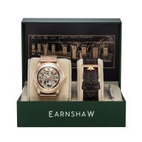 Set Montre Automatique DOWNING EARNSHAW Homme Rose Doré - ES-8119-66