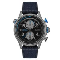 Montre Chrono Bleue HAWKER HUNTER AVI-8 Homme - AV-4080-02