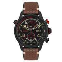 Montre Chrono HAWKER HUNTER AVI-8 Homme Marron- AV-4080-04