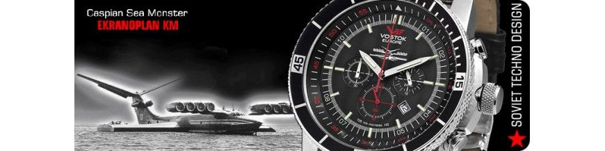 Montre Vostok Sea Monster Ekranoplan - Boutikenvogue